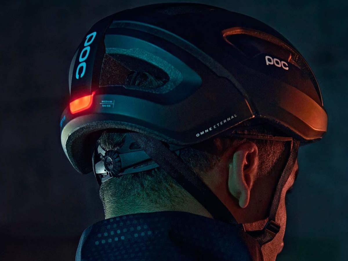 POC Omne Eternal bike safety helmet features a self-powered light