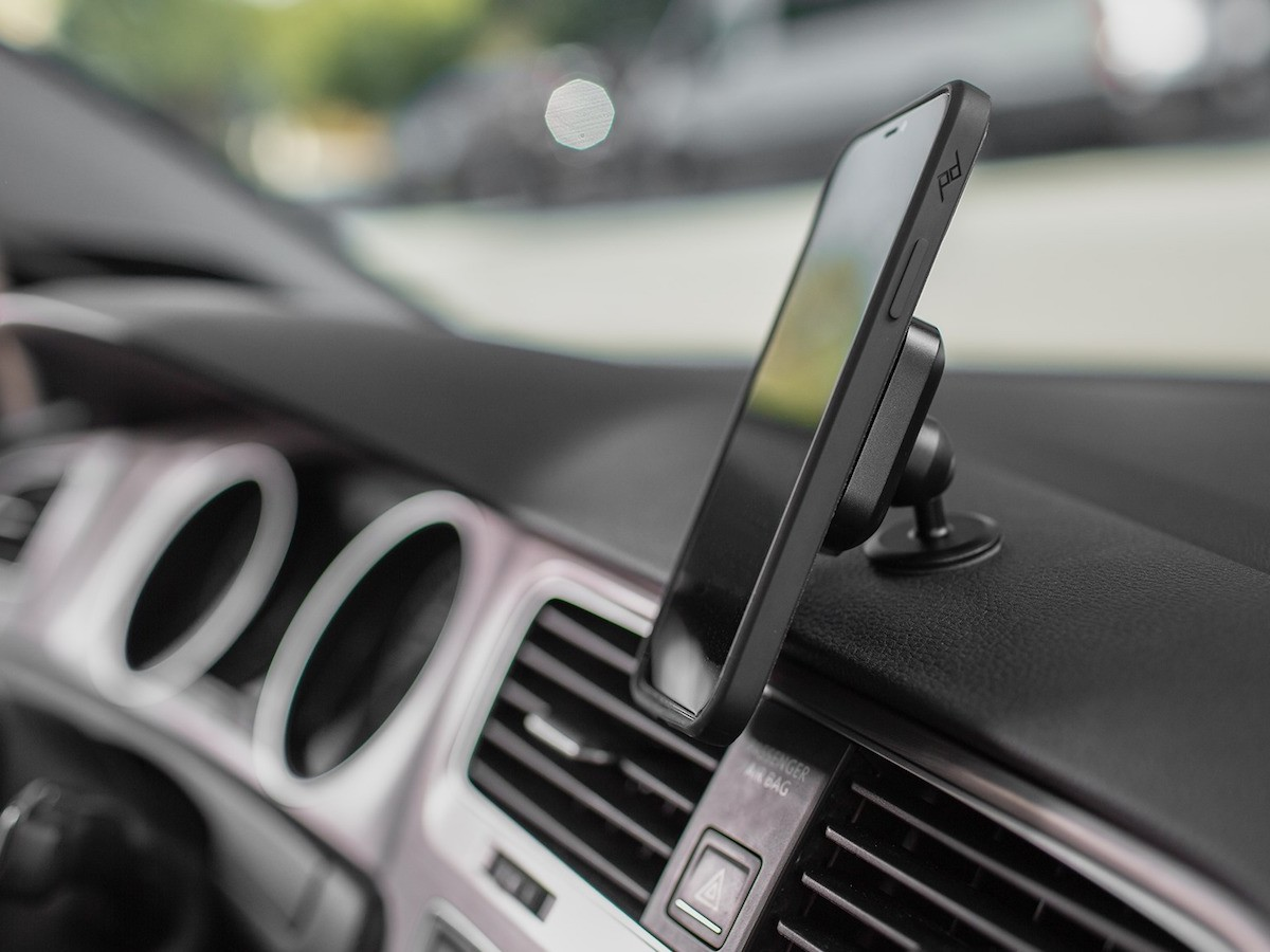 Peak Design Aluminum Car Mount attaches to a variety of places
