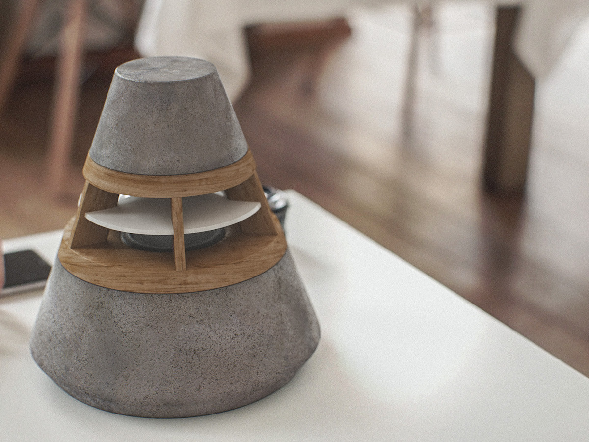 HEVI 360-degree modular concept speaker boasts a warm aesthetic & modern temperament