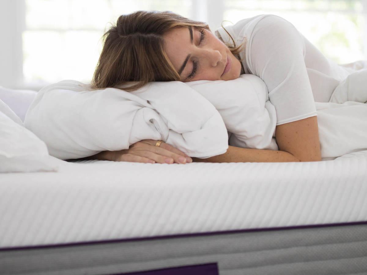 Purple Hybrid Premier plush mattress cradles pressure points for maximum comfort