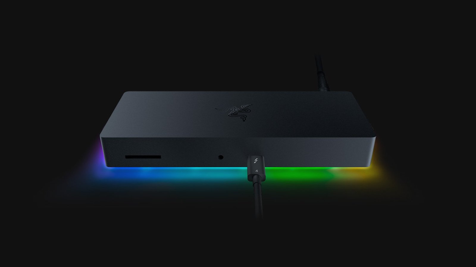 Razer Thunderbolt 4 Dock Chroma customizable hub includes 10 ports & pass-through charging