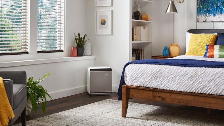 Samsung Cube smart air purifier removes dust, allergens, and odors from your home