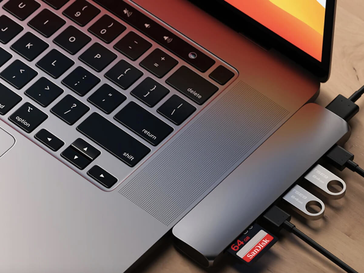 Satechi Type-C Pro Hub MacBook Adapter lets you expand your laptop's ports