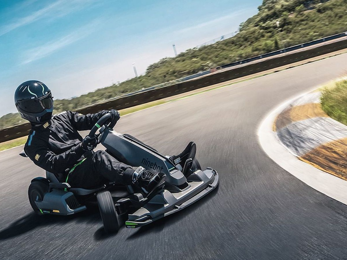Segway Ninebot Electric Gokart PRO reaches a top speed of 23 mph and is collapsible thumbnail