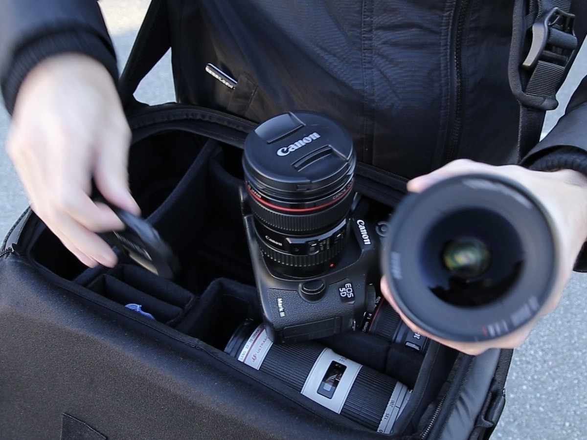 The Top Shelf all-access camera bag provides an open layout for all your gear