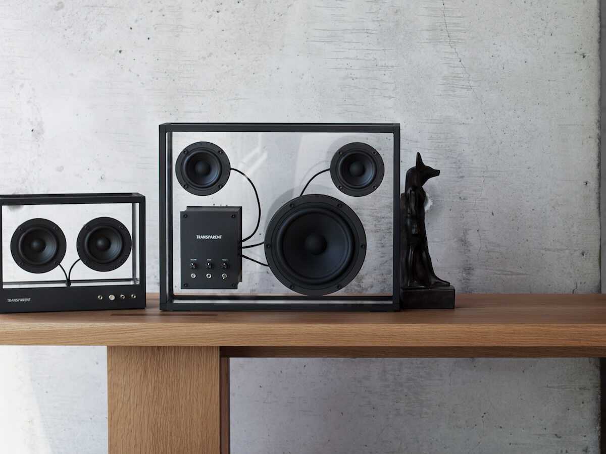 Transparent Bluetooth Loudspeaker has a timeless design that's stripped back