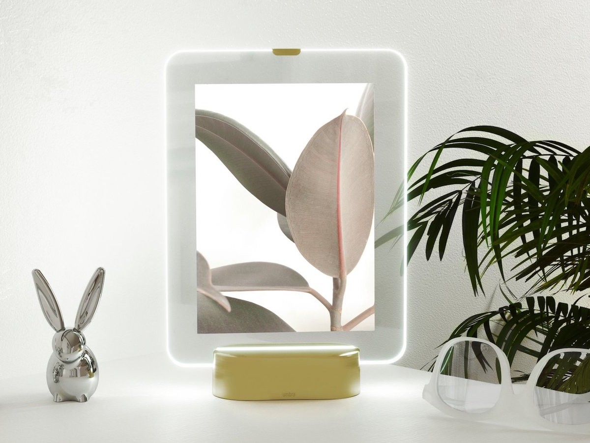 Umbra Glo LED Picture Frame lights up your photos