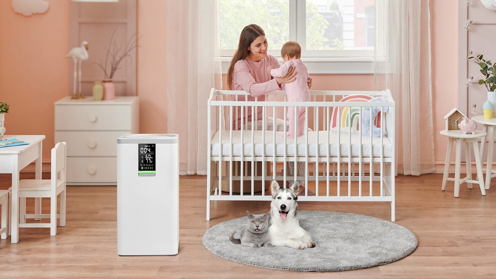 VOCOlinc Smart Air Purifier VAP1 removes allergens, pollen, and fine dust from your home