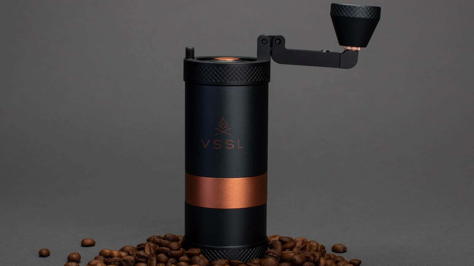 VSSL Java Handheld Coffee Grinder lets you make coffee on the go with 30 grind settings