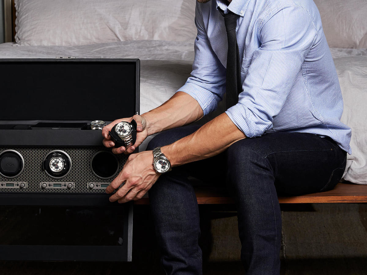 WOLF Axis Watch Winders keep your timepieces safe and properly wound
