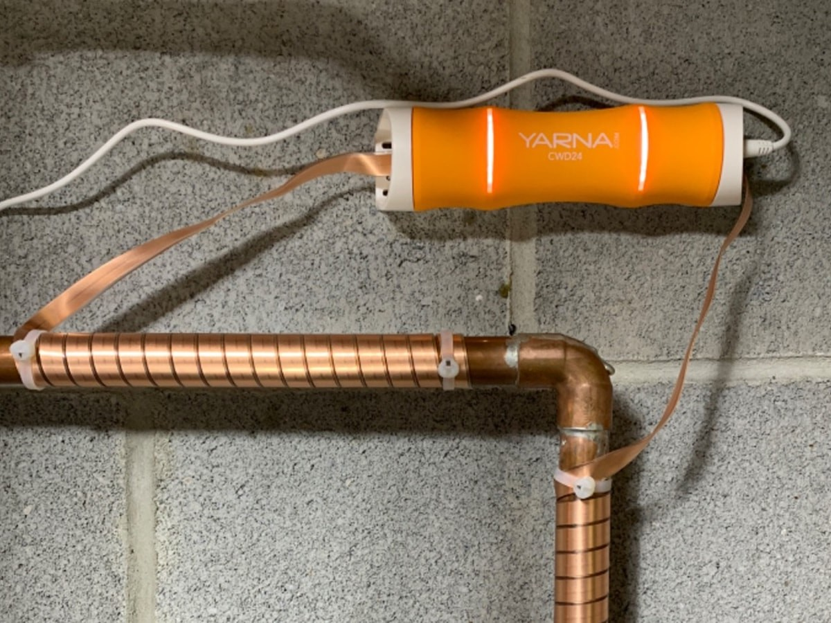 Yarna CWD24 Capacitive Electronic Water Descaler System prevents mineral buildup