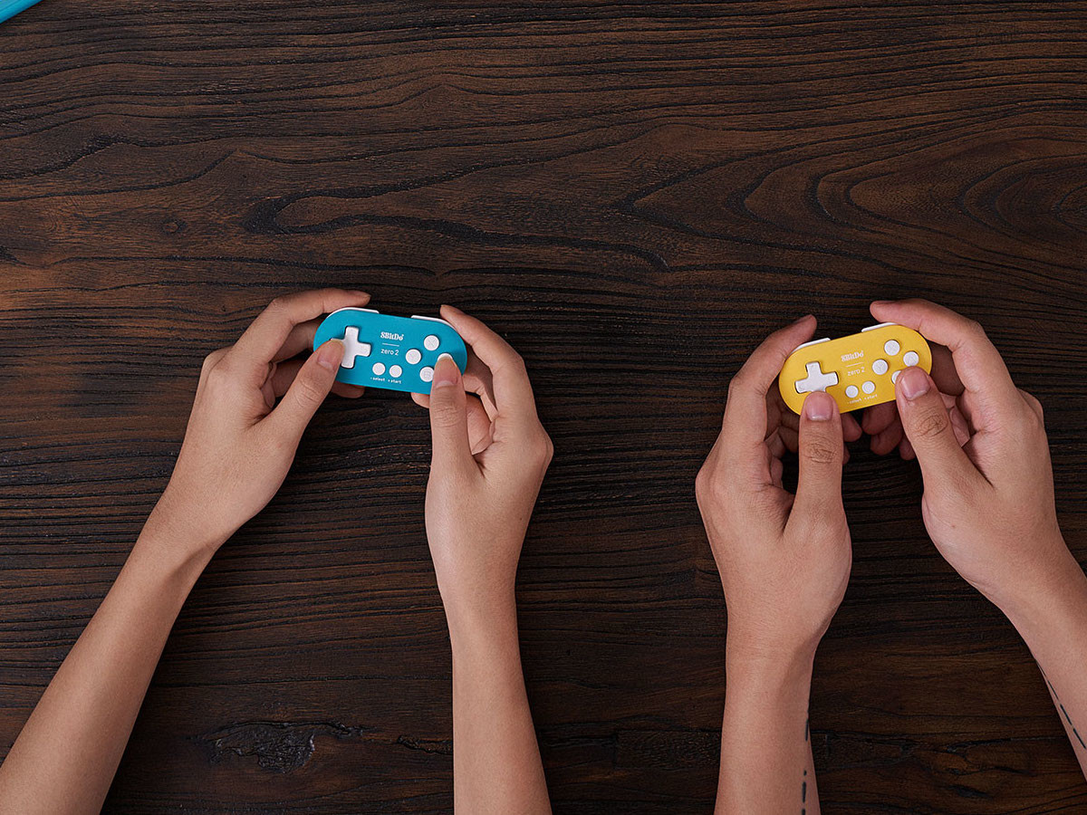8BitDo Zero 2 Bluetooth gamepad controller is compatible with various devices