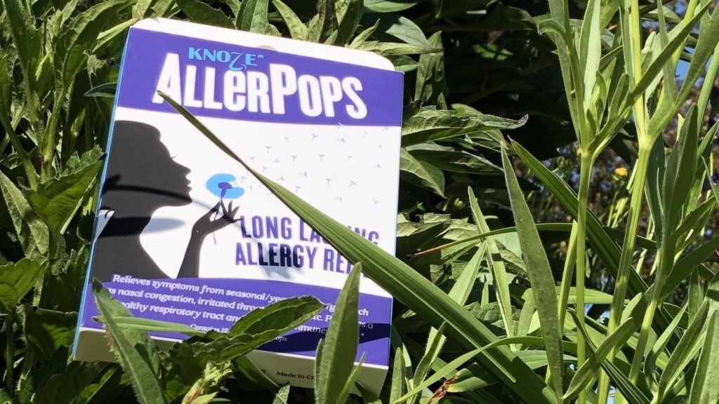 These allergy relief suckers help you feel better without chemicals AllerPops allergy-relief lollipops