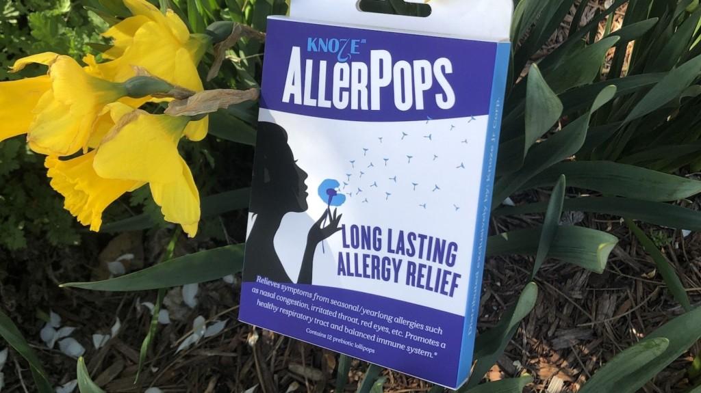 AllerPops allergy-relief lollipops