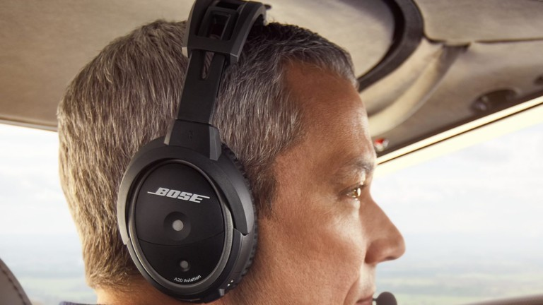 Bose A20 Aviation Headset offers 30% greater noise reduction than similar versions