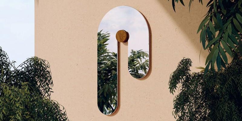 Bower Studios Melt Glass Mirror I