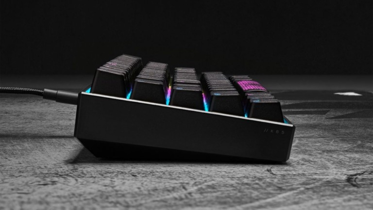 CORSAIR K65 RGB MINI mechanical gaming keyboard has a small size with big features