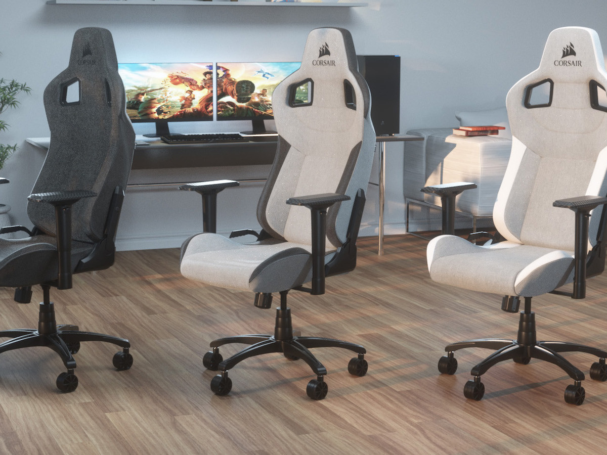 CORSAIR T3 RUSH gaming chair lets you sit back and relax during gameplay