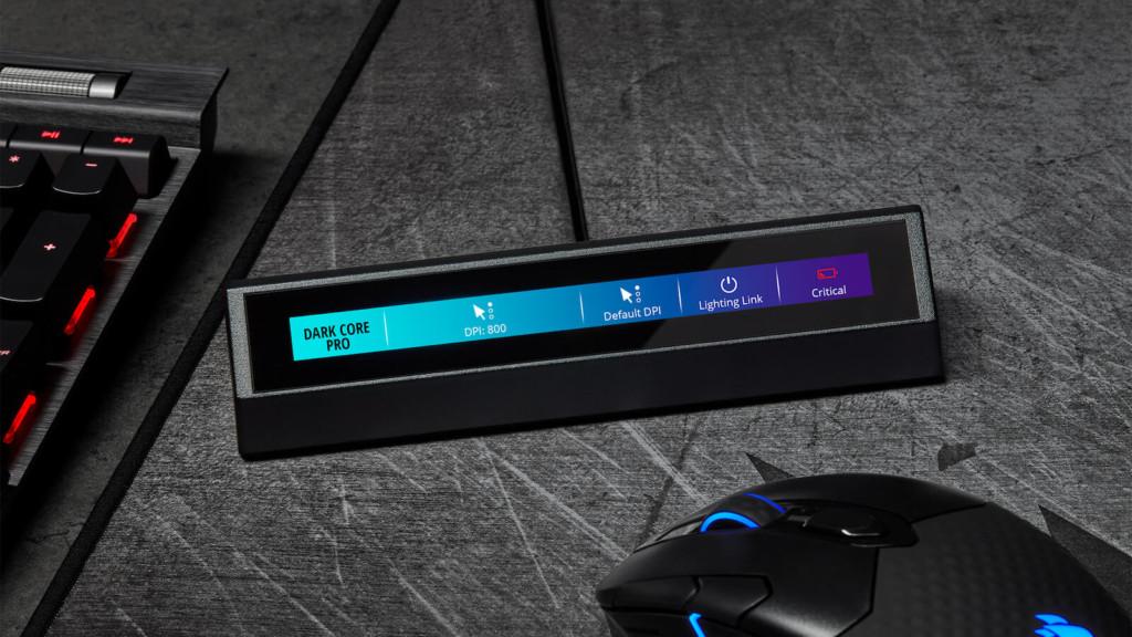 CORSAIR iCUE NEXUS keyboard touch panel