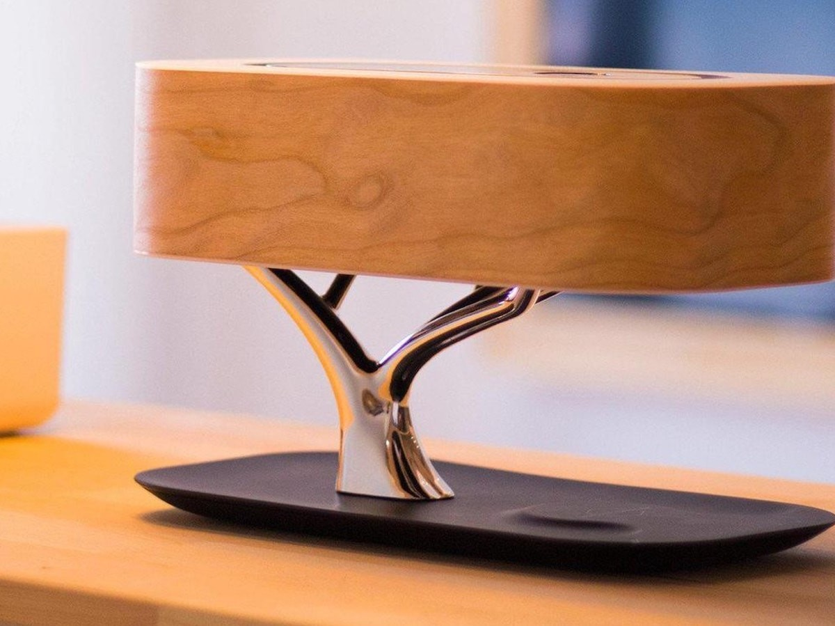Ciamenr 3-in-1 Tree Lamp is also a wireless charger and speaker