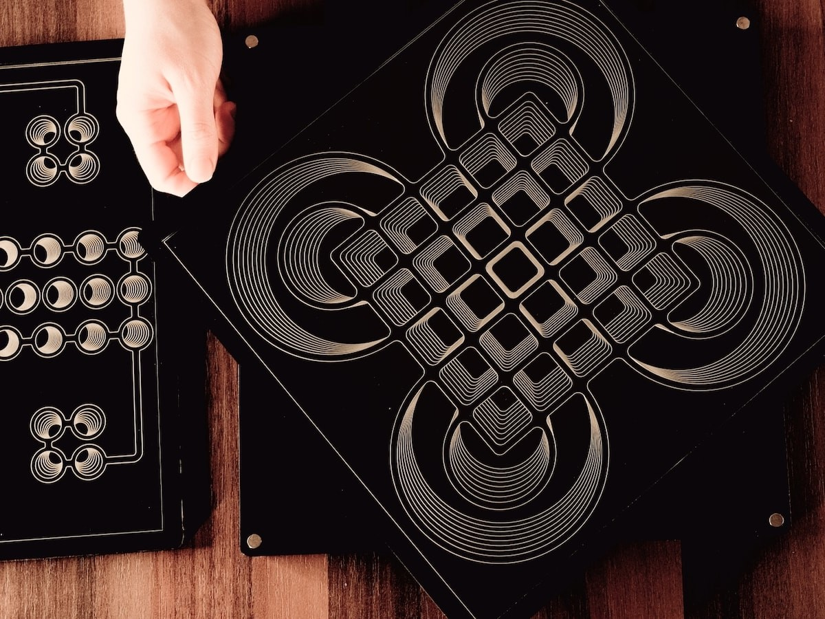 Dark Board versatile game surface is a modern take on classic boards