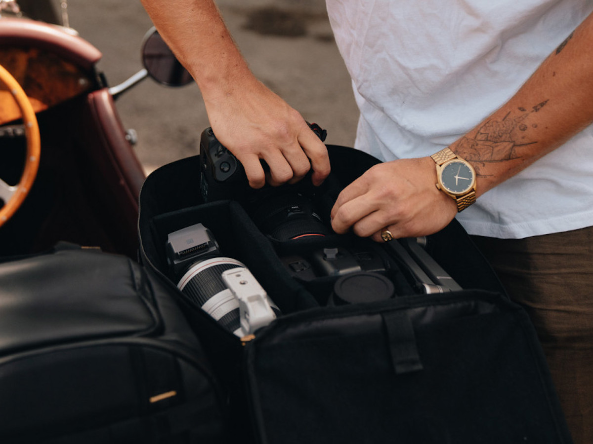 Db CIA Pro Camera Insert Backpack features internal pads to organize photography gear