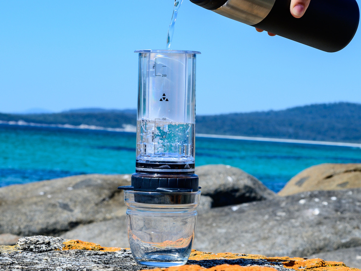 Delter Portable Coffee Press weighs less than 250 g and is great for walks and camping