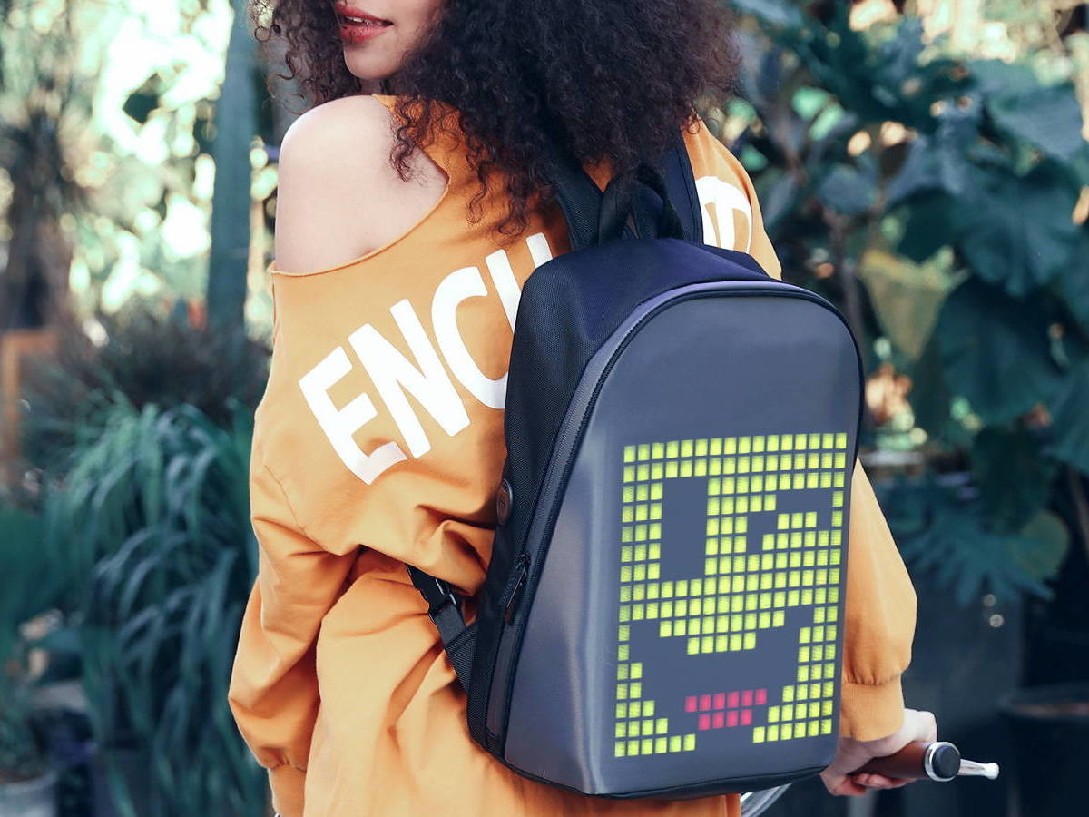Divoom Pixoo LED Backpack lets you create pixel art and show it off
