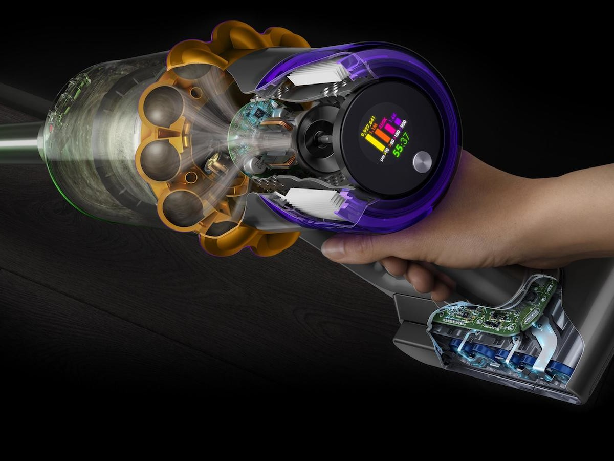 Dyson V15 Detect cordless vacuum uses Laser Dust Detection to reveal dust particles