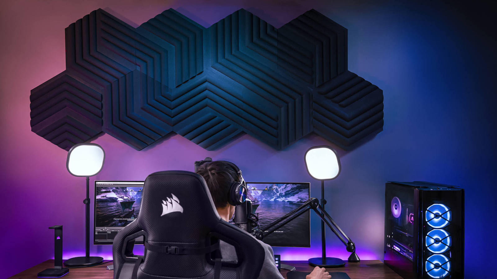 Elgato Wave Panels acoustic foam tiles provide studio-quality sound for any space