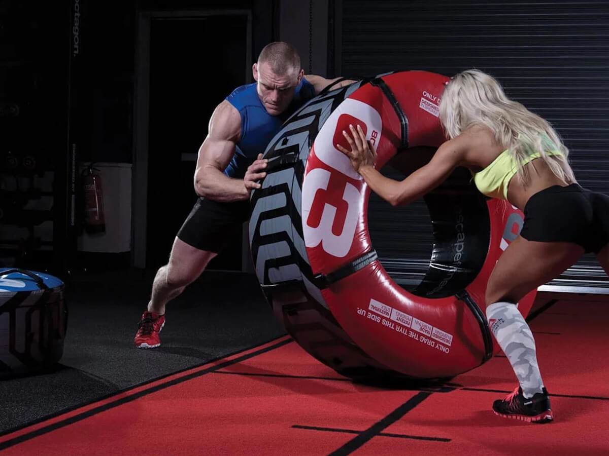 Escape Fitness TIYR workout tire provides a tough workout that's resistant to tears