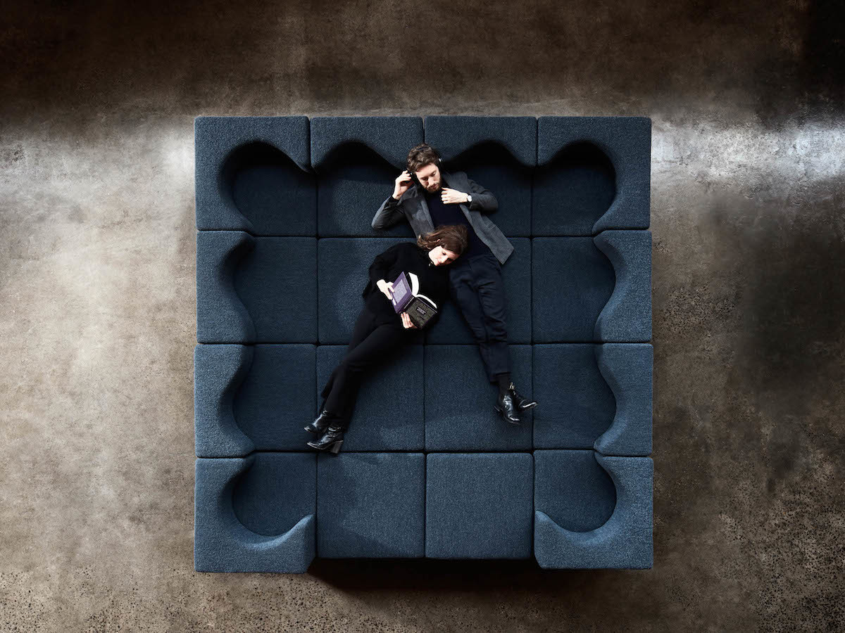 Foolscap Studio Soufflé modular lounge seat adapts to your setting and needs