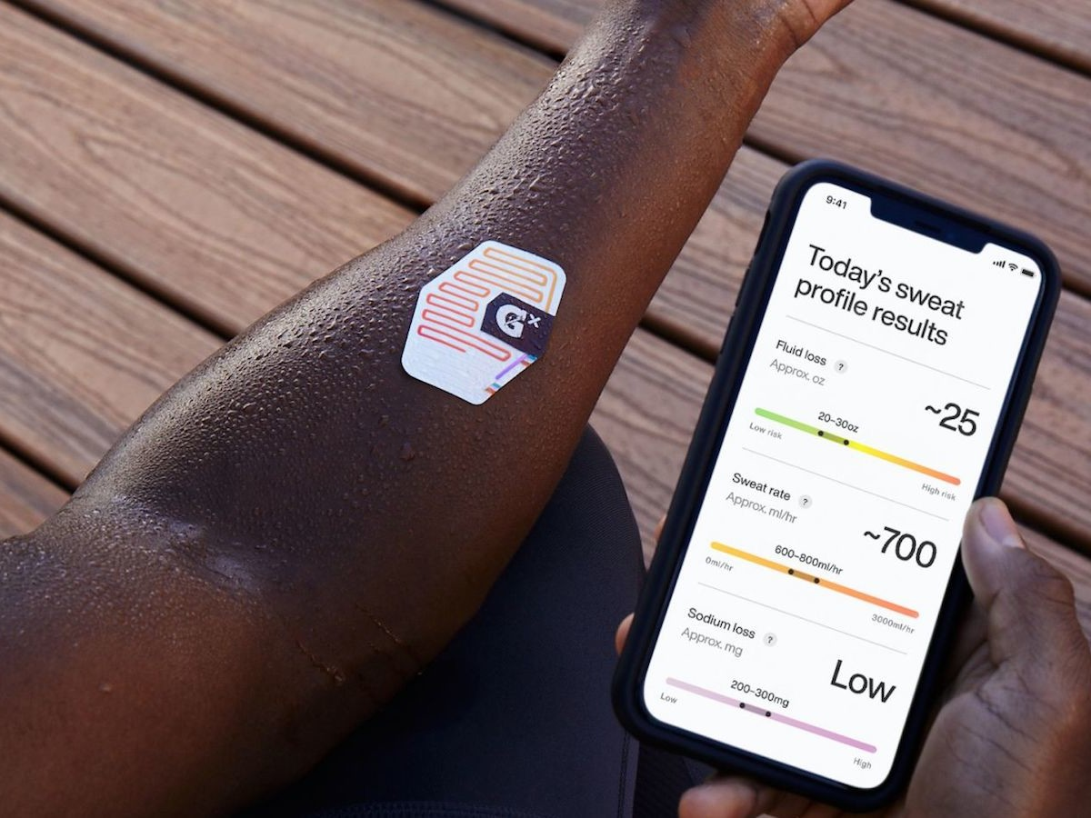 Gatorade Gx Wearable Sweat Patch measures your fluid and sodium losses while you exercise