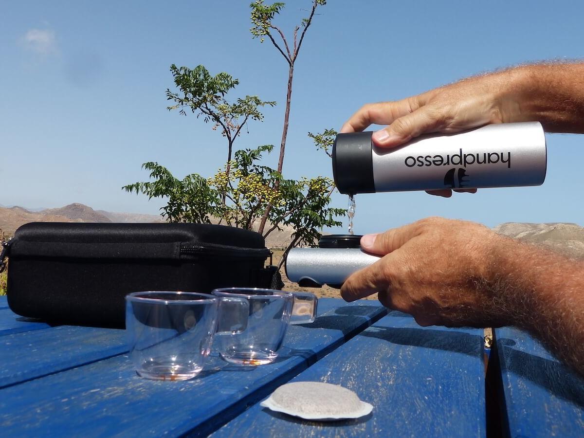 Handpresso Pump manual espresso machine is portable to take wherever you go