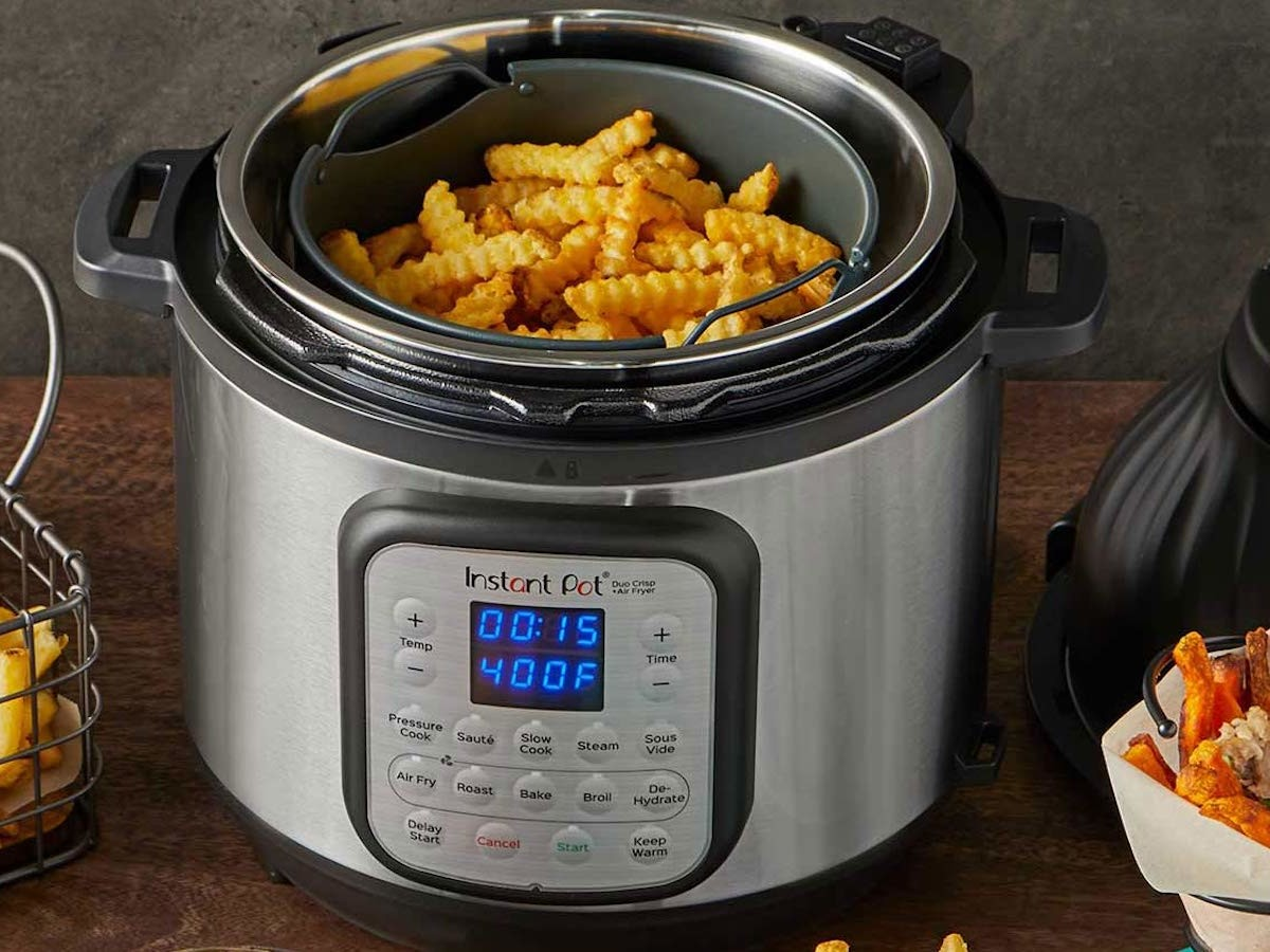 Instant Pot Duo Crisp + Air Fryer features 11 smart programs