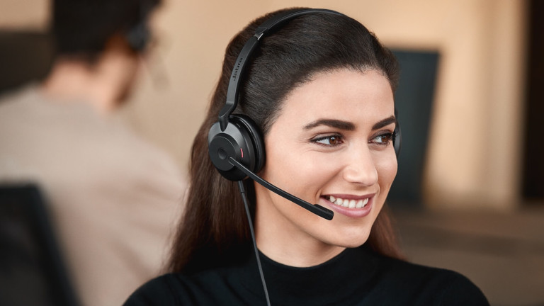 Jabra Evolve2 30 flexible headset captures your voice clearly