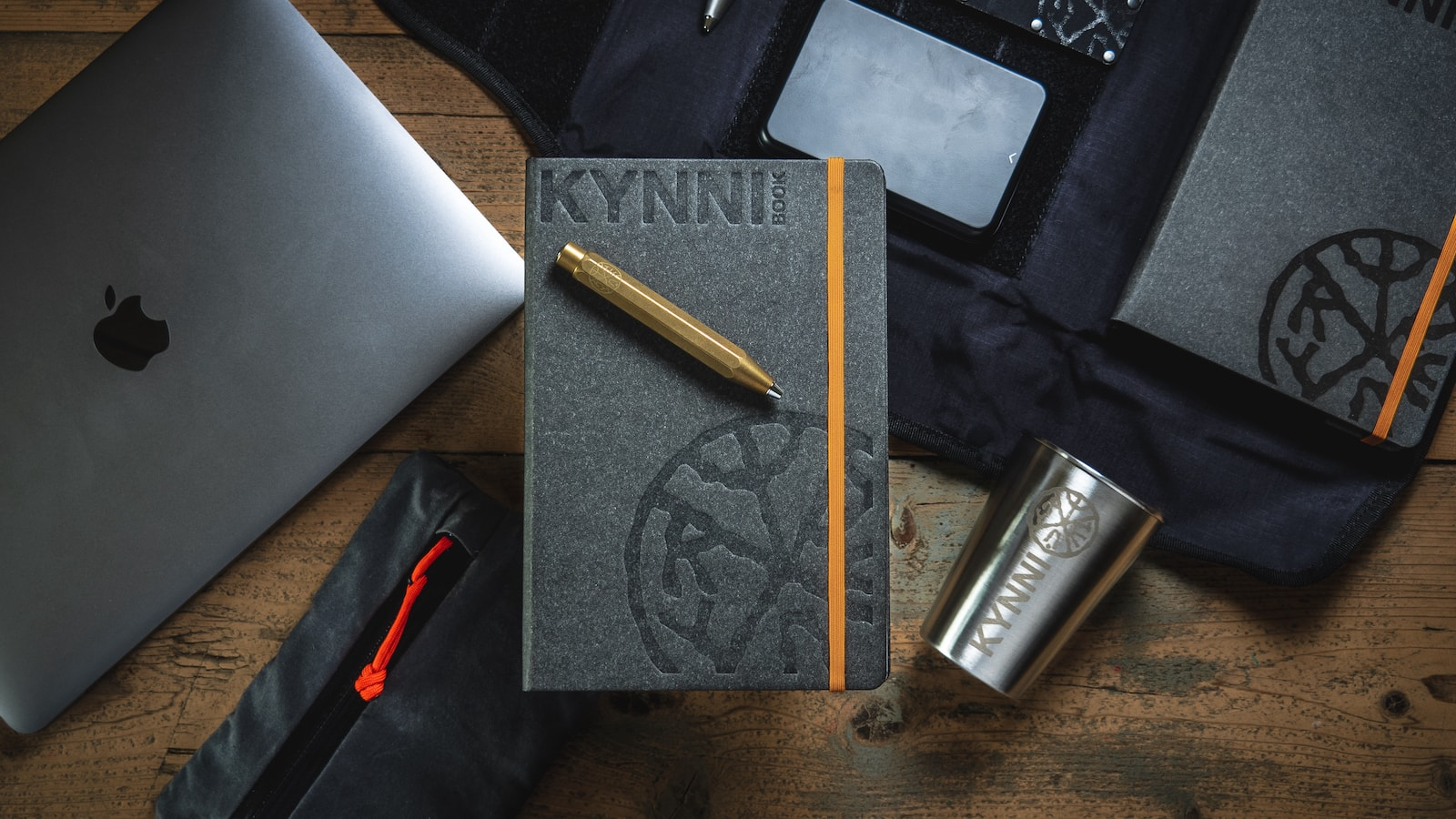 KYNNI Book and Tool Roll Folio Travel Journal Kit