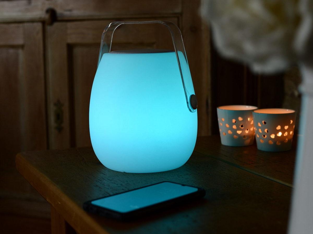 Koble Designs Ava Bluetooth Speaker Lantern has a handle for portability thumbnail