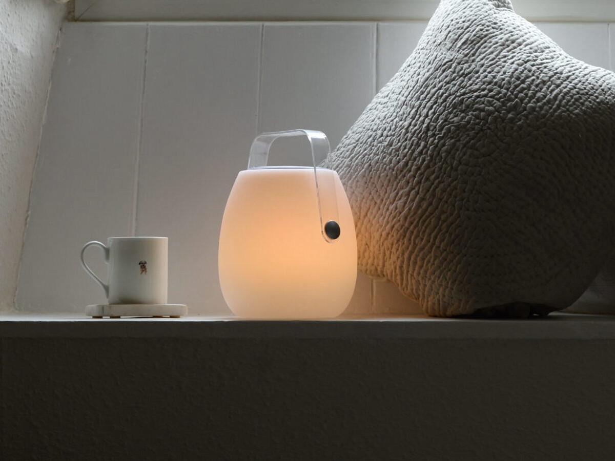 Koble Designs Ava Bluetooth Speaker Lantern has a handle for portability