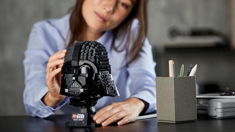 LEGO Darth Vader Helmet building set is a collectible piece to display