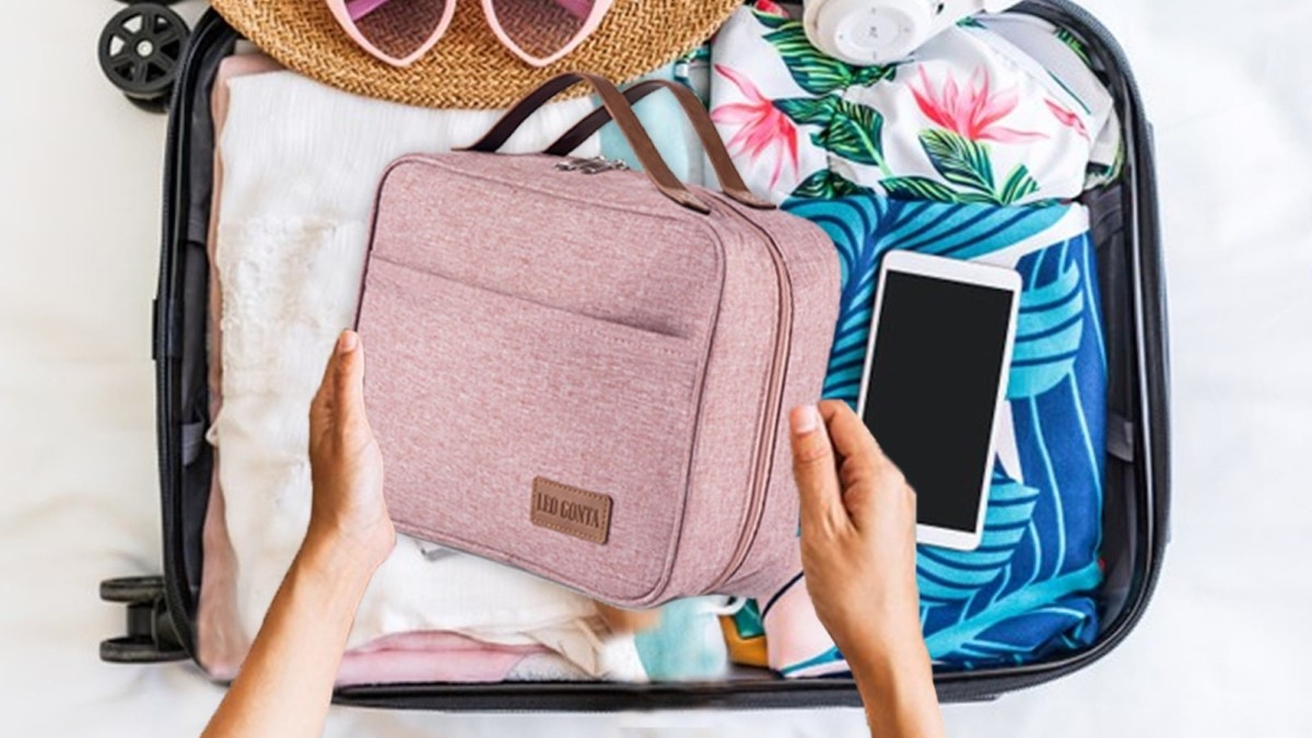 This stylish toiletry bag is the one you want for travel and everyday use