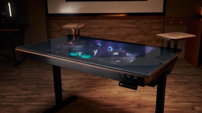 Lian Li DK-05F & DK-04F gaming desks allow you to gaze at the tech below the keyboard