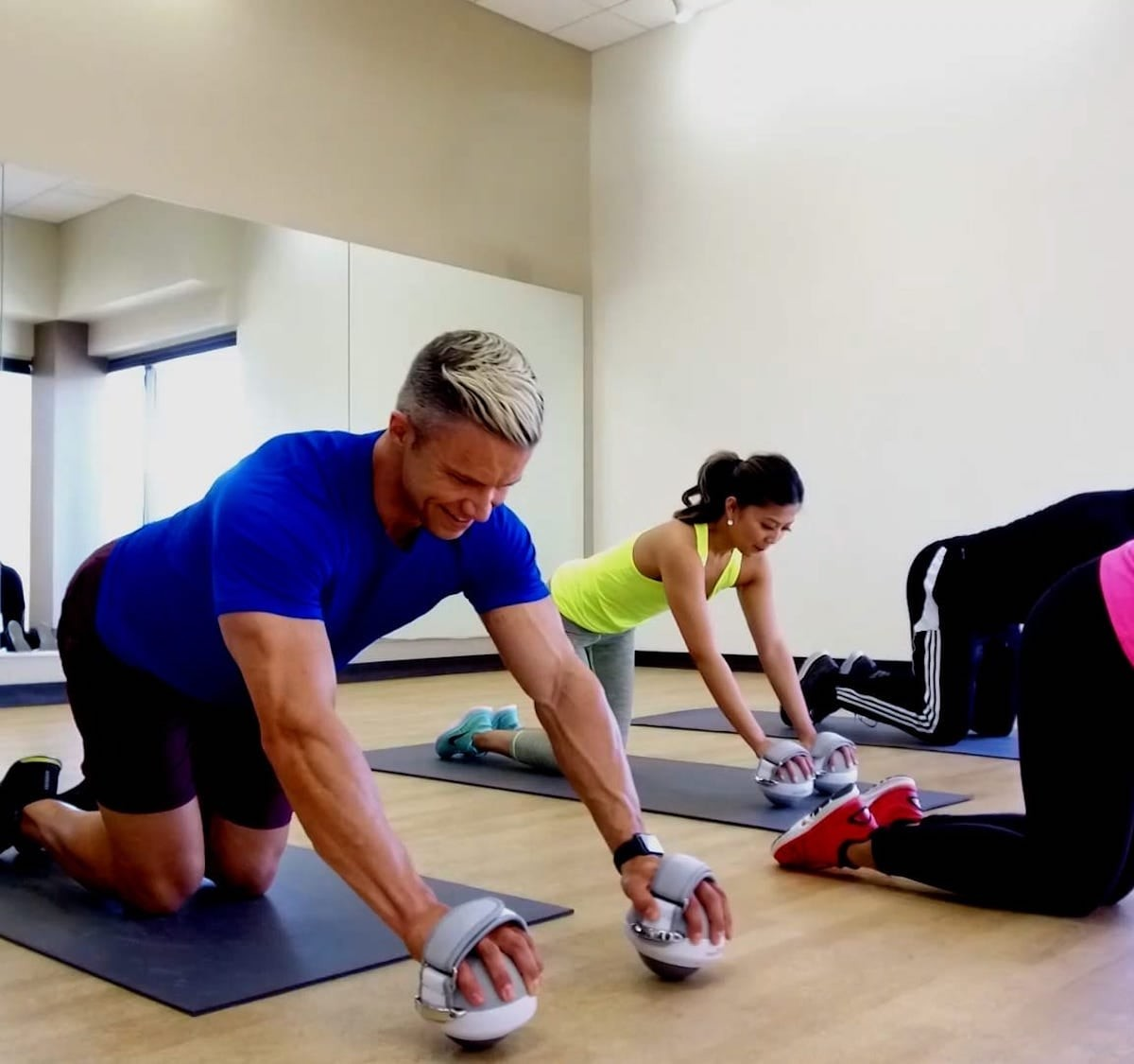 This cool fitness ball trains muscles throughout the entire body thumbnail