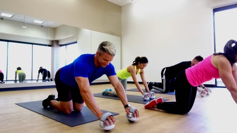 This cool fitness ball trains muscles throughout the entire body