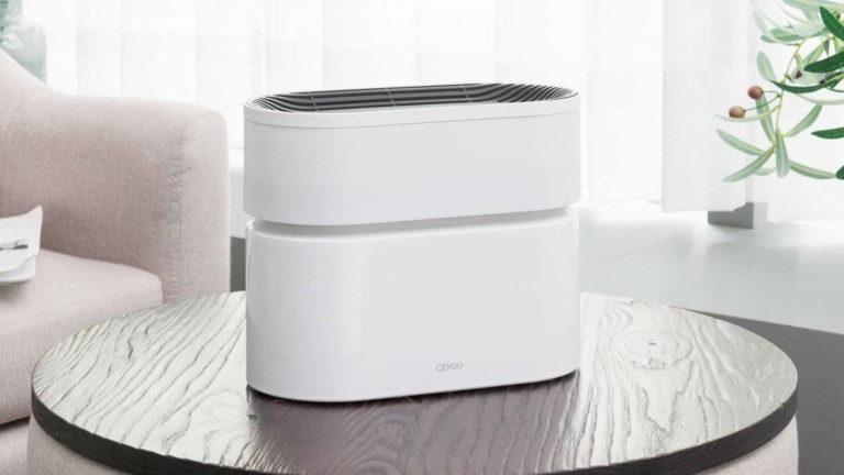 Opro9 Smart Air Purifier features a twin turbofan design for rapid indoor air circulation
