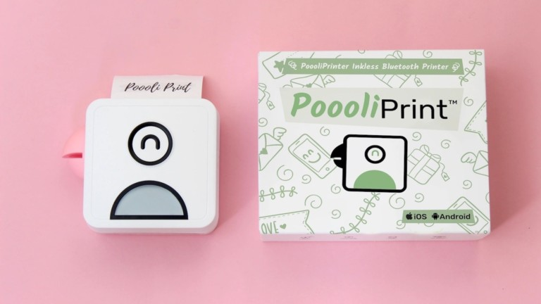 This cute inkless printer lets you print right from your phone
