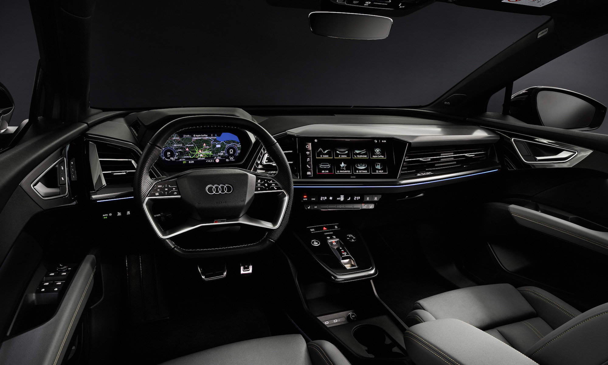 Audi has revealed an AR display for its next EV—the Q4 e-tron