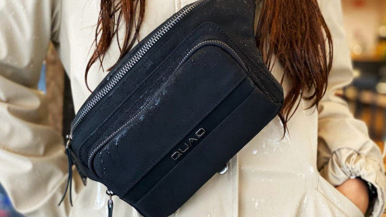 QUAQ wireless charging fanny pack keeps you connected everywhere you go
