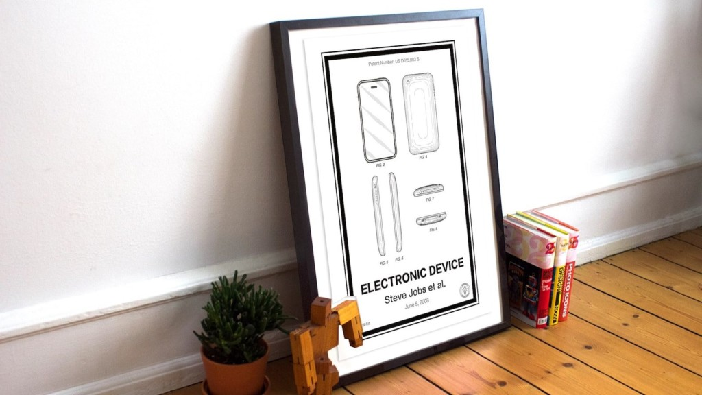 The coolest gadgets for the geeks in your life Retro Patents Electronic Device iPhone patent poster