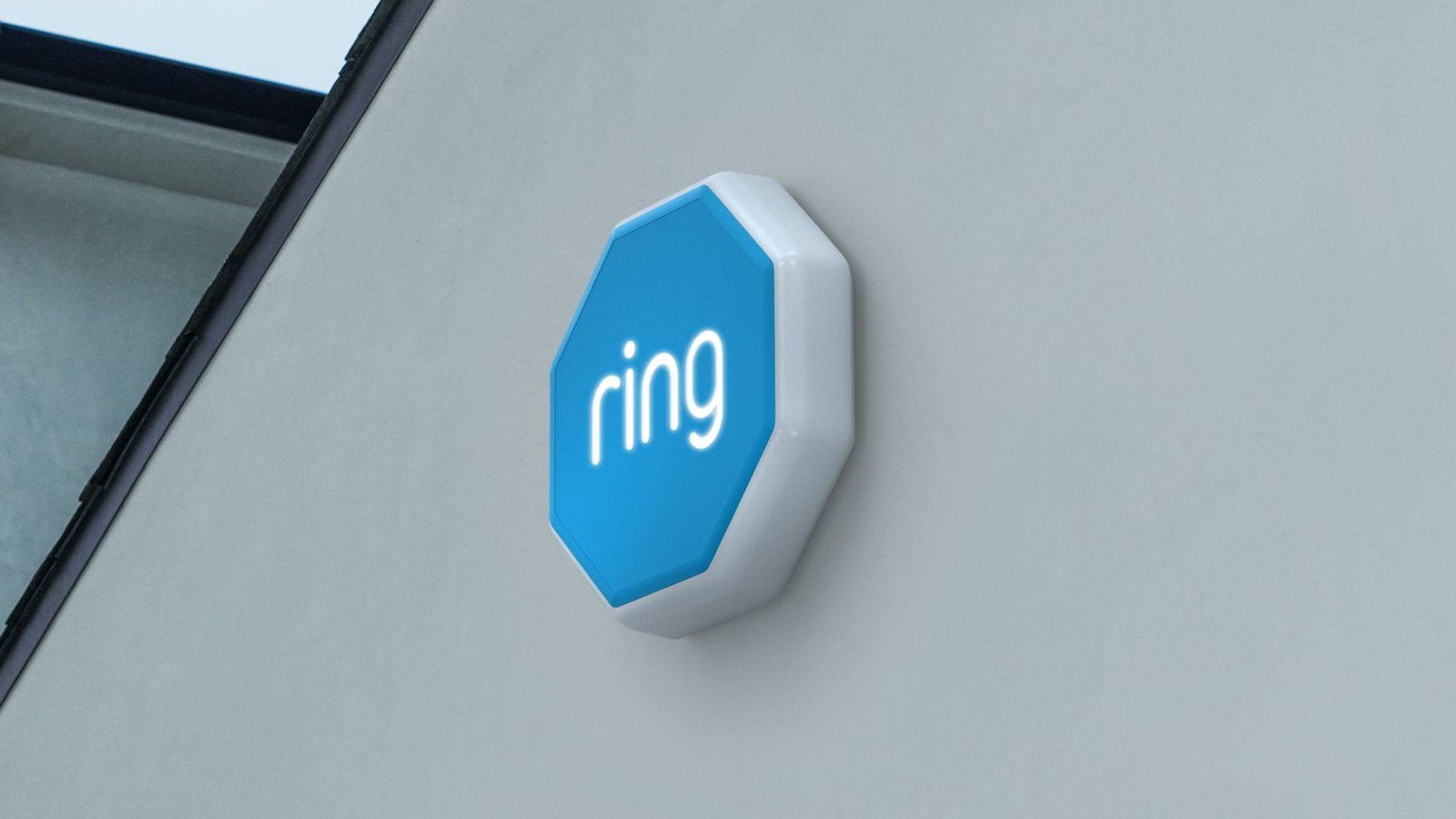 Ring Alarm Outdoor Siren flashes LED lights to alert neighbors if you're in danger